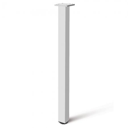 Picior cu profil patrat 46x46 mm, H710, pentru masa