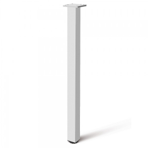 Picior cu profil patrat 60x60 mm, H710, finisaj aluminiu, pentru masa,