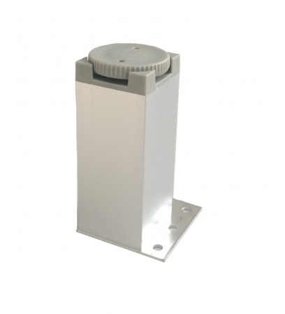 Picior metalic pentru mobilier H:100 mm cu profil patrat 40x40 mm aluminiu