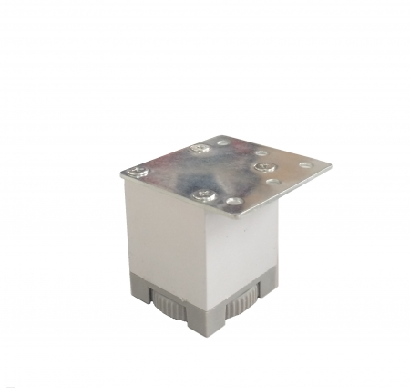 Picior metalic pentru mobilier H:50 mm cu profil patrat 40x40 mm aluminiu