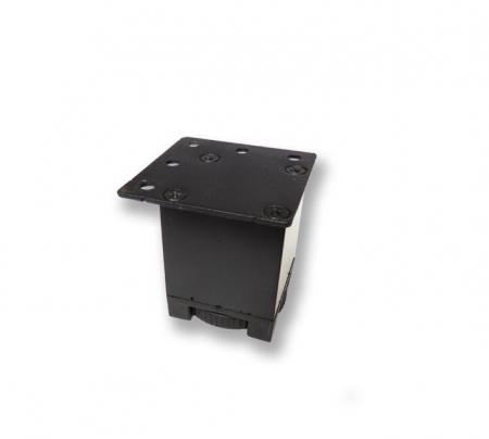 Picior metalic pentru mobilier H:50 mm cu profil patrat 40x40 mm negru