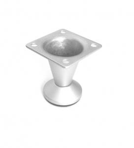 Picior metalic pentru mobilier H:50 mm finisaj aluminiu