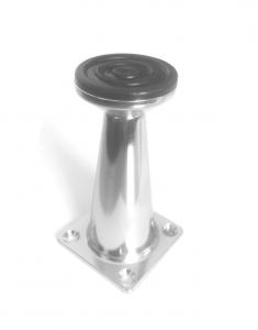 Picior metalic pentru mobilier H:80 mm finisaj crom