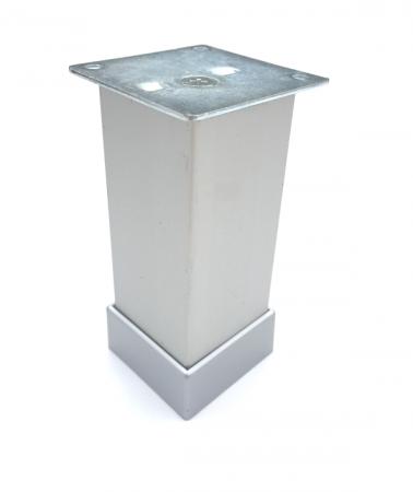 Picior reglabil pentru mobilier H100 finisaj aluminiu