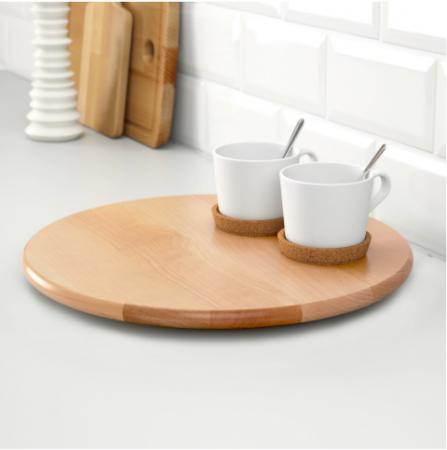 Platou rotativ in lemn