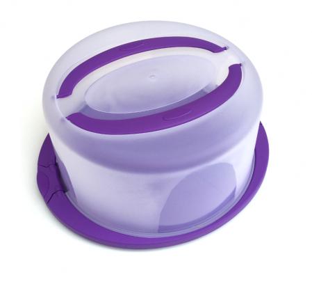Platou tort rotund violet