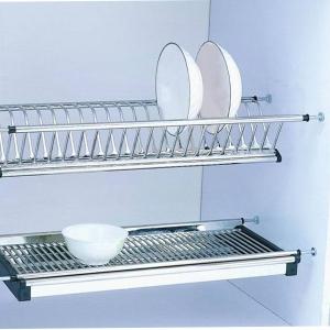 Scurgator din otel inoxidabil pentru vase montabil in dulap de bucatarie cu dimensiune de 450 mm