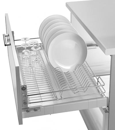 Scurgator pentru vase, tip sertar cu amortizor, pentru latime corp 450 mm
