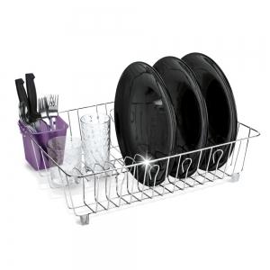 Scurgator vase cu suport pentru tacamuri violet