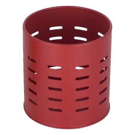 Suport metalic pentru tacamuri si ustensile de bucatarie rosu