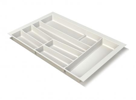 Suport organizare tacamuri, alb, pentru latime corp 800 mm, montabil in sertar bucatarie