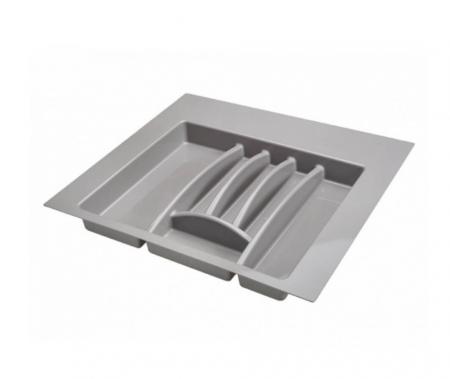 Suport organizare tacamuri,gri aluminiu, pentru latime corp 600 mm, montabil in sertar bucatarie