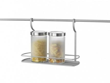 Suport suspendat cu bara suport inclusa pentru recipiente si accesorii bucatarie1
