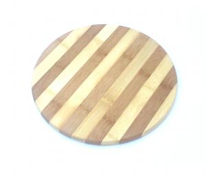 Tocator rotund din bambus diametru 25 cm