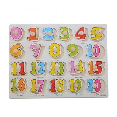 Jucarie puzzle incastru lemn numere