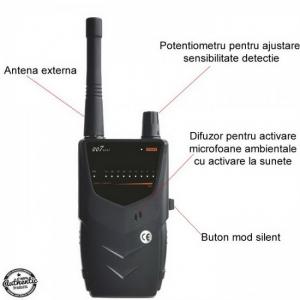 BHS Top 007 Mini – 8 Ghz - detector pentru camere si microfoane spion - husa anti-ascultare telefon bonus