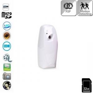 Microcamera spionaj wi-fi p2p audio - video mascata in odorizant de camera cu senzor de miscare