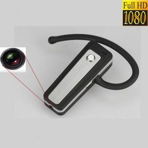 Camera video spy , 32 Gb , 1080p integrata in casca Bluetooth