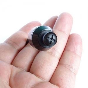 Microcamera CCTV pentru spionaj cu sunet integrata in surub negru