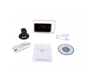 Camera spy ip wireless ascunsa in ceas de birou cu telecomanda, memorie 32 GB, detectie miscare si night vision