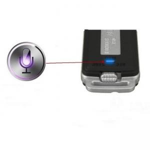 Stick USB de memorie cu mini reportofon spion clar  – 32 Gb , Model 32GBUSBVOICE  (cea mai mare capacitate )
