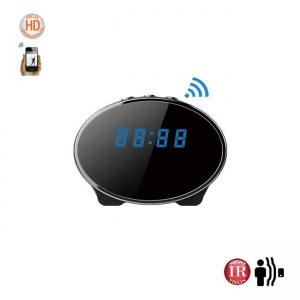 Ceas de birou cu minicamera video spy IP WI-FI DVR, detector de miscare, 1920x1080p , 32Gb