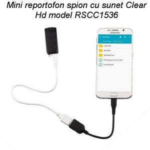 Mini reportofon spy 8 Gb cu clip de prindere la curea – sunet super clar pe 1536Kbps