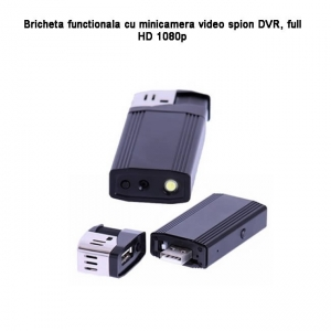 Bricheta functionala cu microcamera video spy, 1920x1080p, 32GB - model BCADV0988