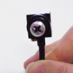 Micro camera CCTV spy pentru spionaj ascunsa in cap surub, sunet, 600 TVL