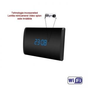 Camera Video DVR IP WiFi cu Senzor de Miscare Integrata in Ceas de Birou Spion   1080P   32GB   CSIP2888