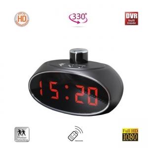 Minicamera DVR Video Rotativa la 330 de Grade Camuflata in Ceas de Birou