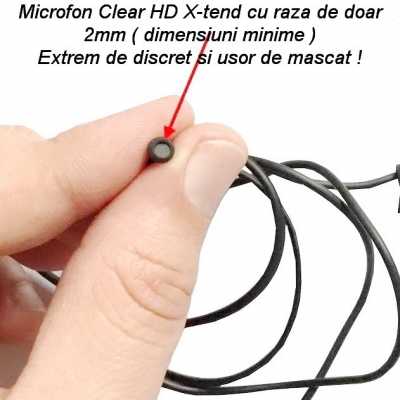 Microfon GSM Spy profesional ultraclear activare vocala X-tend EAR1 de 2mm