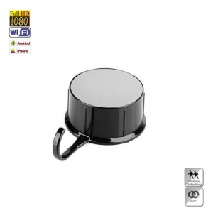 Camera spion dvr, wi-fi mascata in cuier cu lentila incorporated, senzor de miscare, 64 gb, 1080p, CMCWIFI1080INC