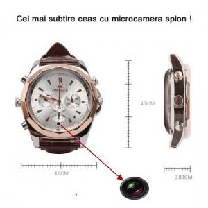 Ceas de mana cu microcamera spy - model nou - cel mai subtire 8,8mm
