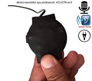 Modul mini reportofon spy ultraprofesional IP Wi-Fi + descarcare inregistrari + ascultare live pe Internet ACUST®