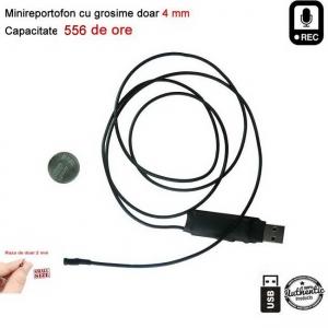 Modul de 2 mm reportofon spy profesional Clear HD 8Gb 556 de ore - MODREC556X-TEND