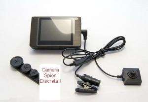 Micro camera video spion profesionala ascunsa in nasture CCD Jack 2,5 SpyLab N0185