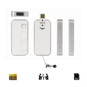 Microcamera video pentru spionaj mascata in bricheta slim, 1920x1080p, functie separata de reportofon
