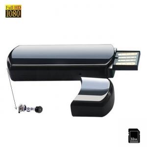 Microcamera Video Spion Mascata in Stick USB de Memorie, Rezolutie Video 1920x1080p, Card MicroSD 32Gb