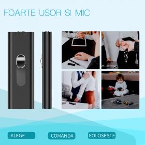 Stick USB de Memorie cu Activare la Voce, 16GB -  Stocare 296 de Ore, 18 Ore Autonomie
