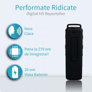 Stick usb de memorie reportofon spion profesional 4 Gb , capacitate 280 de ore, autonomie 25 de ore , sunet ultra clar SP4GBHN280