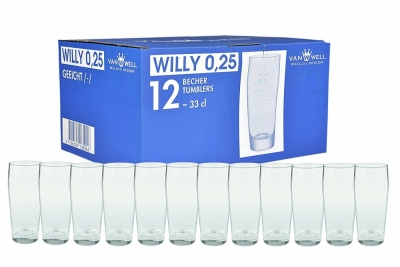 Pahar sticla clasic 250 ml Willy