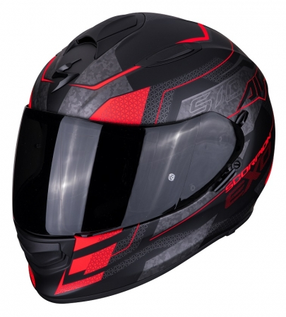 Casca integrala Scorpion Exo-510 Air Galva, Matt Black/Neon Red