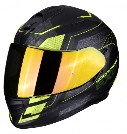 Casca integrala Scorpion Exo-510 Air Galva, Matt Black/Neon Yellow