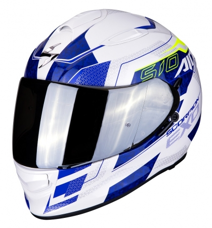 Casca integrala Scorpion Exo-510 Air Galva, White/Blue