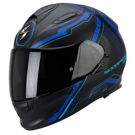 Casca integrala Scorpion Exo-510 Air Sync, Matt Black/Blue