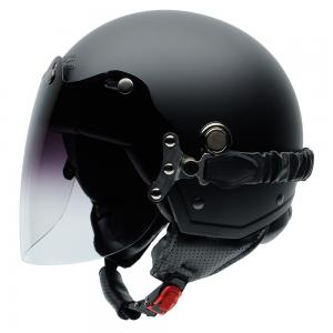 Casca open face NZI Tonup Visor, Matt Black