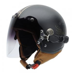 Casca open face NZI Tonup Visor, Steelwheels