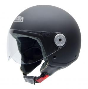 Casca open face NZI Vintage II, Matt Black, L