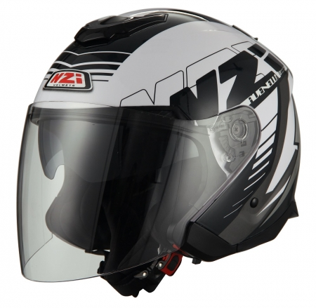 Casca open face NZI Avenew 2 Duo, Prova White/Black